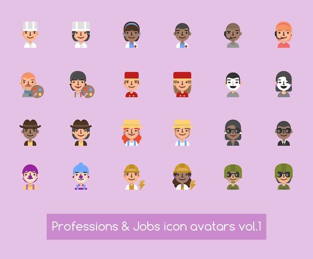 Avatares de ícone de profissões