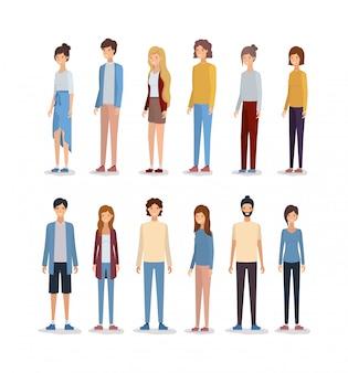 Avatares de mulheres e homens