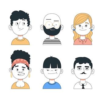 Avatares de pessoas coloridas
