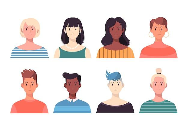 Avatares de pessoas diferentes