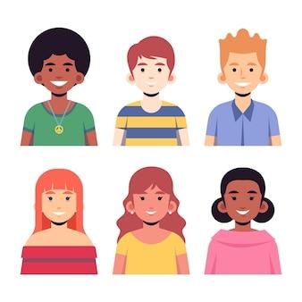 Avatares de pessoas