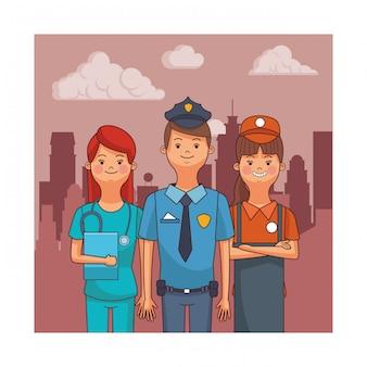 Avatares de profissão e ocupação