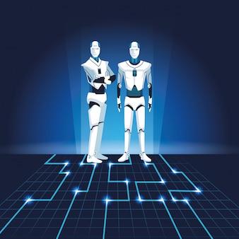 Avatares de robôs humanóides