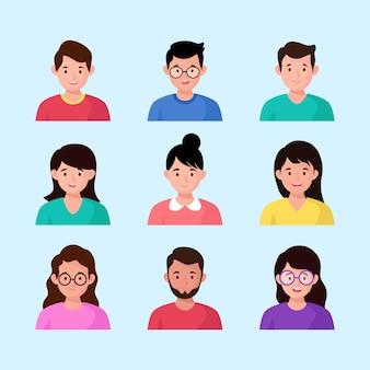 Avatares do grupo de pessoas