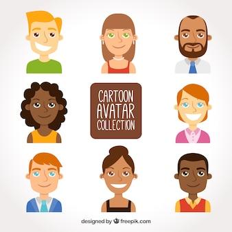 Avatares engraçados de desenhos animados