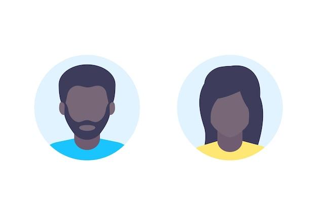 Avatares, marcador de posição de foto padrão, fotos de perfil