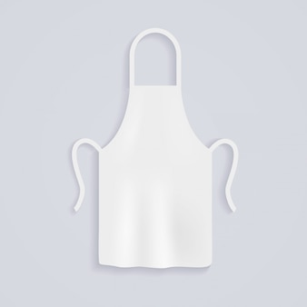 Aventais de cozinha brancos. chef uniforme para cozinhar.