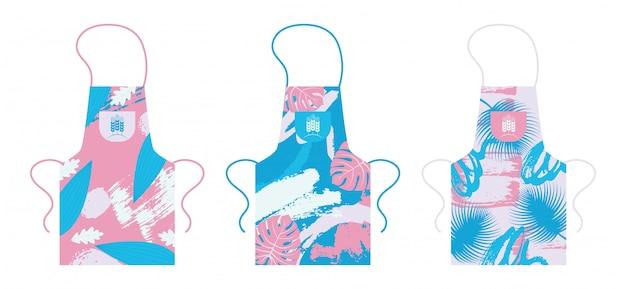 Avental, modelo de item uniforme de cozinha isolada