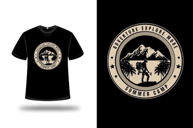 Aventura com camisetas explore mais acampamento de verão