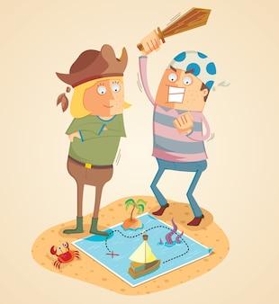 Aventura de caçadores de tesouros