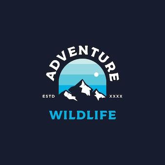 Aventura distintivo logotipo design ilustração