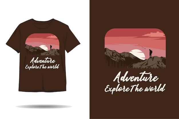 Aventura explore o mundo do design da silhueta de camisetas