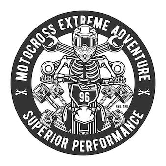 Aventura extrema de motocross