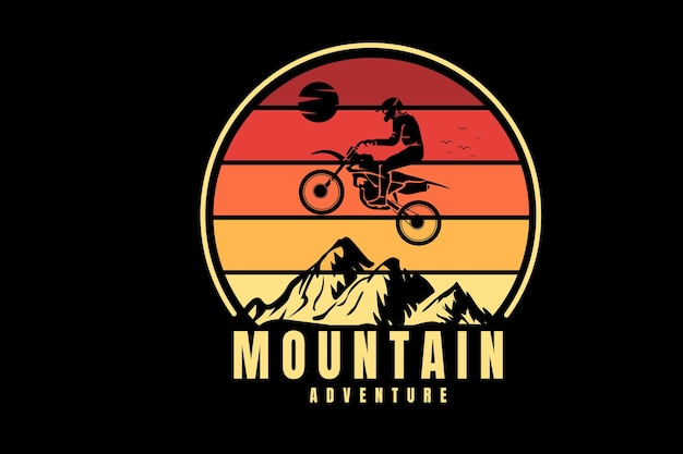 Aventura na montanha cor amarela e laranja