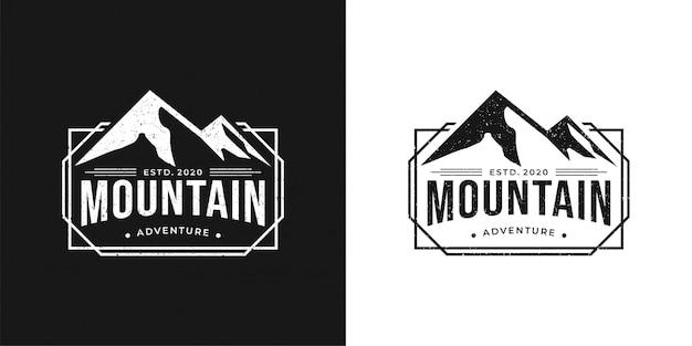 Aventura na montanha design de logotipo vintage simples