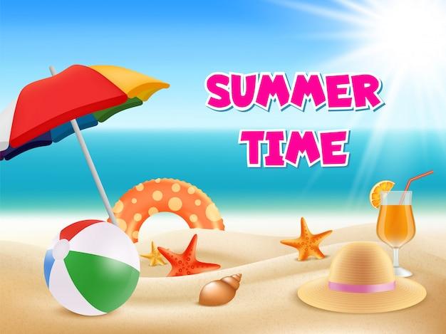 Aventuras de verão ilustração verão