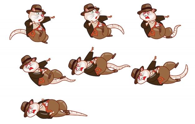 Aventureiro rat cartoon game character sprite
