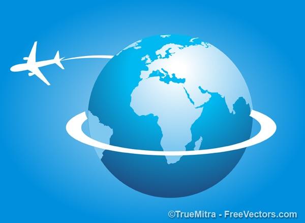 Avião ao redor do mundo