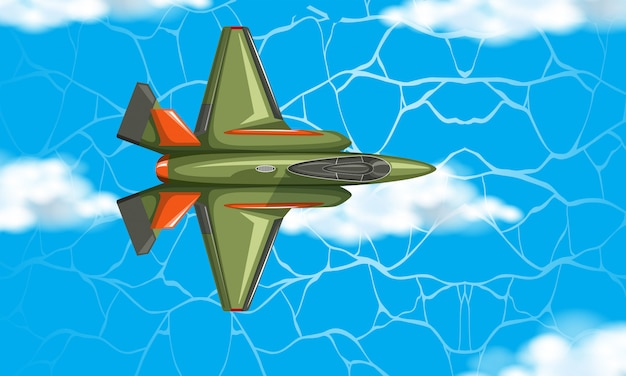 Avião da vista aérea