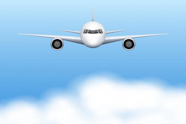 Avião de aeronaves civis