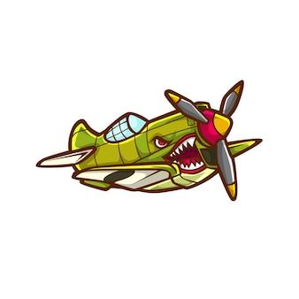 Avião de caça jato avião vetor ww2 ww1 guerra mundial velho jato