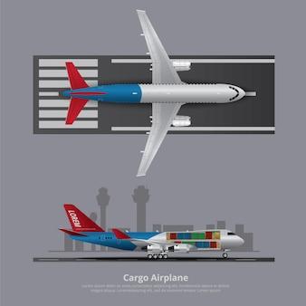 Avião de carga avião isolado ilustração vetorial