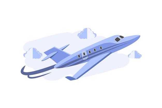 Avião de jatos 3d cartunista