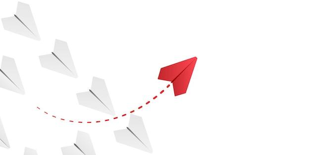 Avião de papel com ilustração do próprio caminho