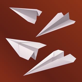 Avião de papel voa