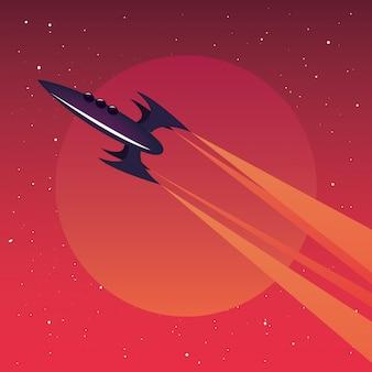 Avião de quadrinhos voando