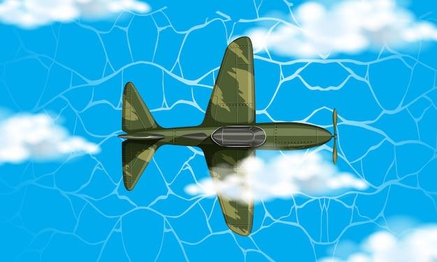 Avião do exército no céu