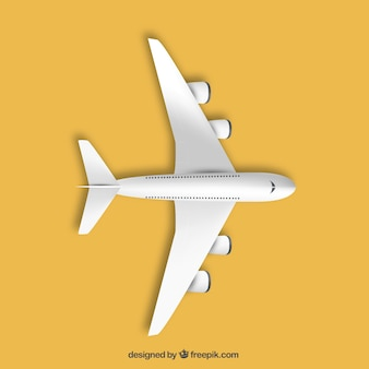 Avião em vista de cima