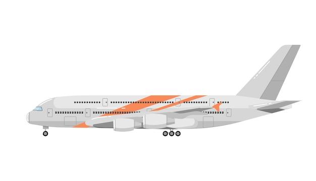 Avião isolado no branco