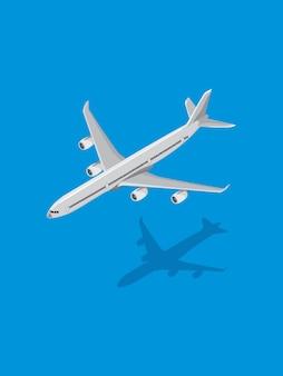 Avião no fundo do mar azul