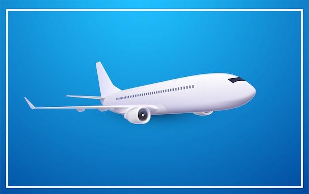 Avião realista isolado, ilustração.