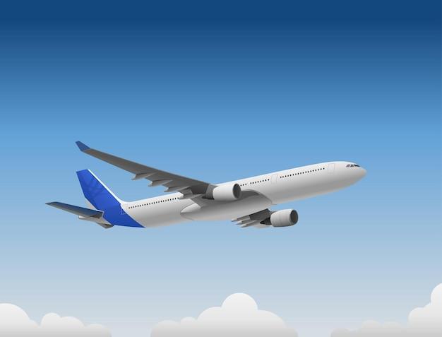 Avião voando em um dia ensolarado