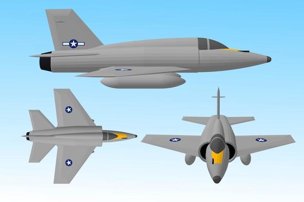 Aviões a jato e navios de guerra para soldados