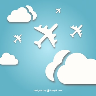 Aviões a jato vetor livre
