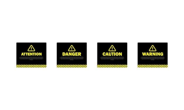 Aviso, atenção. sinal de cautela e perigo.