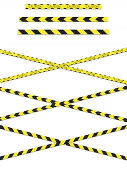 Aviso de fita de construção de perigo.