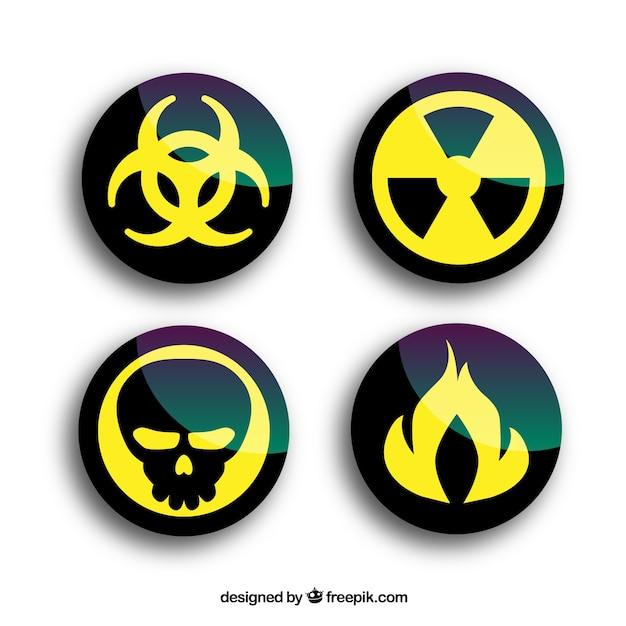 Aviso de radiação rodada