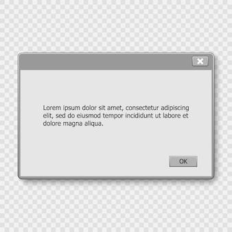 Aviso do sistema operativo da janela