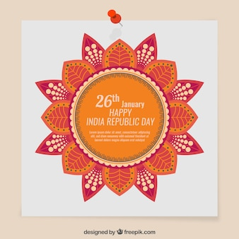 Aviso india dia da república bonito