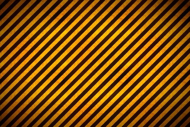 Aviso listras amarelas e pretas com textura grunge, fundo industrial