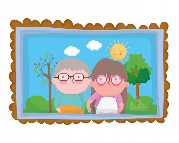 Avó e avô dos desenhos animados