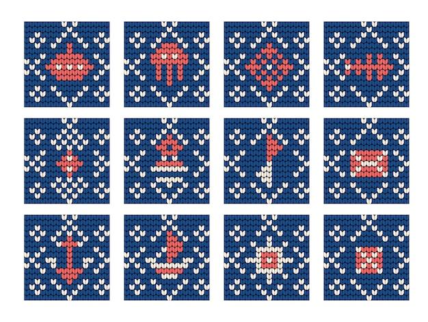 Avó tricô padrão definido para camisola feia