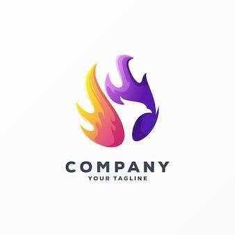 Awesome eagle logo design vector