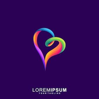 Awesome love premium logo