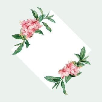 Azálea emoldurada cartão