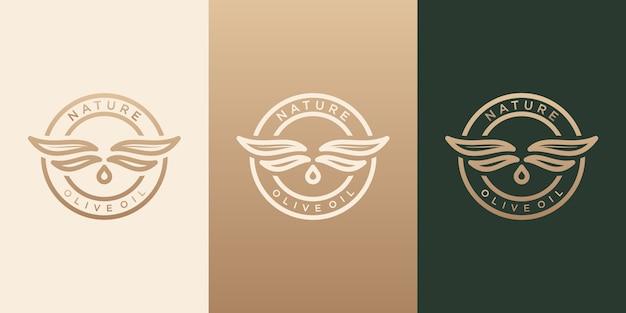 Azeite, natureza, saudável, inspiração para o design de logotipo